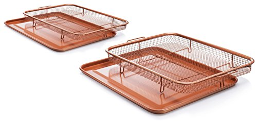 GOTHAM STEEL Crisper Tray Set – Regular-sized and Large-sized