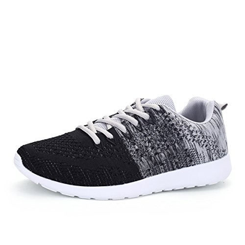 Running Trainers, Gracosy Unisex Mesh Sports Shoes Gym Trainers Walking Casual Shoes Lace up Fashion Sneakers Fitness Lightweight Training Shoes Grey Tag 42