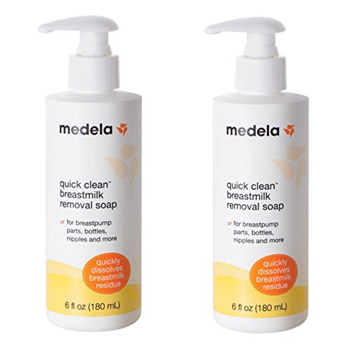 Medela Quick Clean Breastmilk Removal Soap, 2 - 6 Ounce Bottles (Clean Hand Soap)