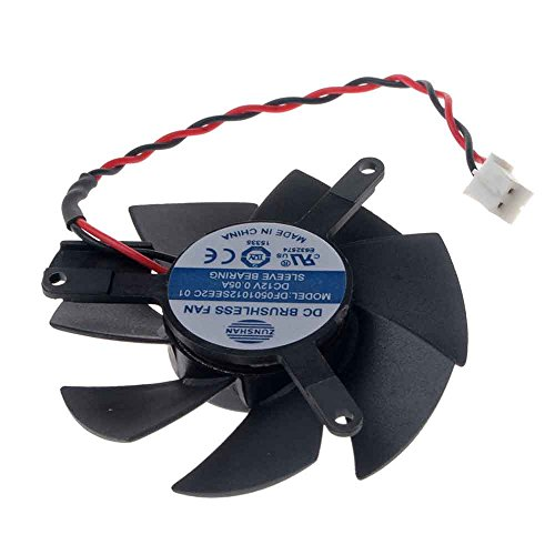 DF0501012SEE2C Graphics Card Fan 47mm DC 12V 0.05A 2-Pin Cooling Fan for X1300 HD4650 HD3650 by Allpartz (Image #2)