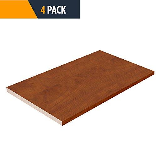 Closet Shelves Melamine - Autumn Color - 10'' D x 30'' W - Choose Your Size - 4 Pack by TFKitchen