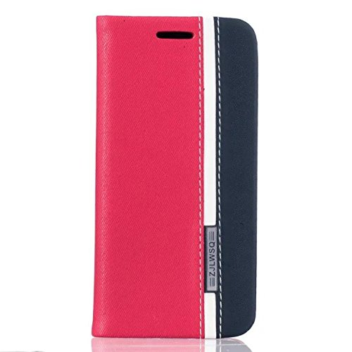 Stand Iphone Flip 6 Protective Card Color And Hue Plus Bonroy Slot With Red Contrast Holder Leather Retro Stitching Case Wallet 6s Slim Cov Pu Function Fit Case Cover Id rrUa74nwqd