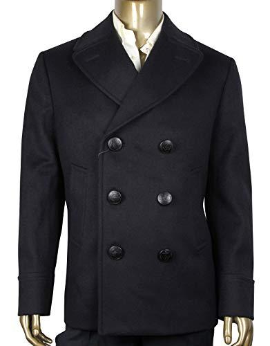 - Gucci Classic Indigo/Chocolate Wool Beaver Coat 368663 4214 (G 52 R/US 42 R)