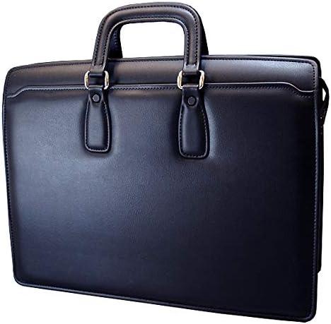 日本製 鍵付き 角手 シンプル ビジネスバッグ 取り外し可能 多機能仕切り板付き 0189