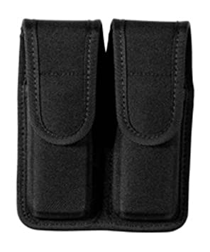 Bianchi Patroltek 8002 Double Magazine Pouch with Hidden Snap, Nylon, Black