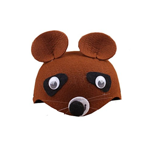Farm Animal Cartoon Kids Mask Hat for Cosplay Halloween Birthdays Theme Party Costume -