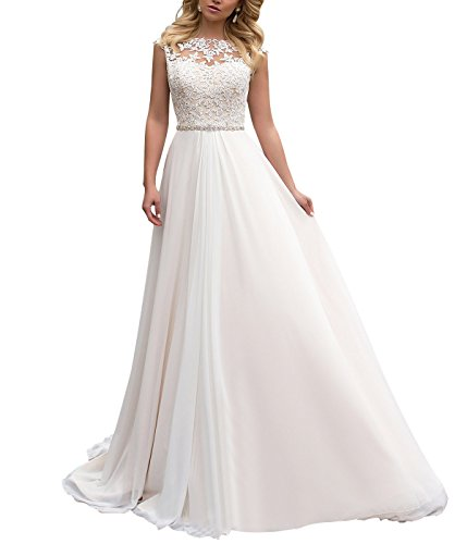 See the TOP 10 Best<br>A Line Chiffon Wedding Dresses