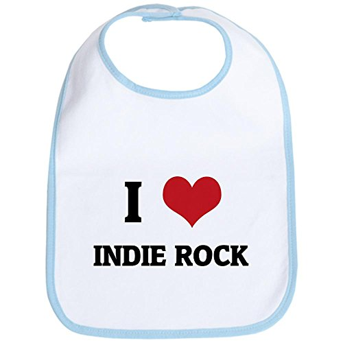 CafePress - I Love Indie Rock Bib - Cute Cloth Baby Bib, Toddler - Cute Boys Indie