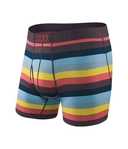 Saxx Underwear Men's Ultra Boxer Fly Cabana Stripe Medium