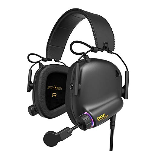 [Newest 2019] Game Headsets Tactical Master for PS3, PS4, PC with Virtual 7.1 Surround Sound, 53mm Neodymium Drivers, James Donkey 008 Immersive Gaming Headset Game Headphones for Laptop Mac Phone - Headphones 53mm Driver