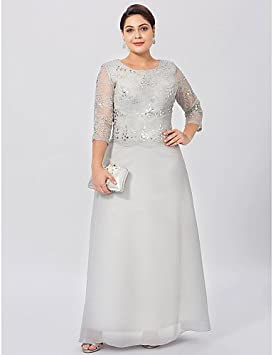 1de011ea6 HY&OB Sheath/Column Jewel Neck Ankle Length Chiffon Lace Mother Of The Bride  Dress With