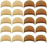 20 PCS Nylon Stretchy Material Wig Caps, PAFOWO 10