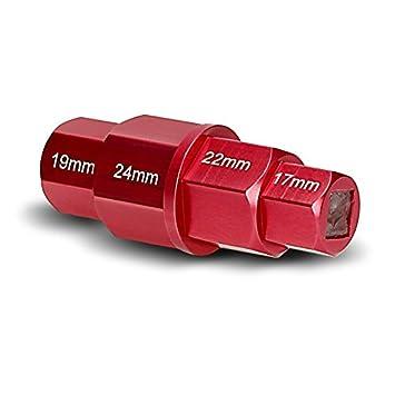 Llave Allen Hexagonal para Desmontar Rueda Delantera Moto 17-19-22-24 mm rojo: Amazon.es: Coche y moto