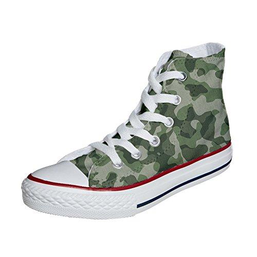 Converse All Star scarpe personalizzate (scarpe artigianali) Mimetiche