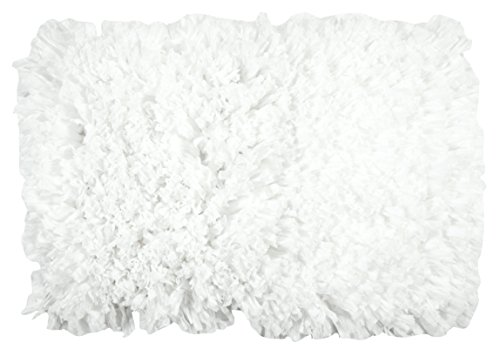 Max Walkins Overlong Paper Shag Rug 21'' X 32'',Poly Cotton Construction, Super Soft, Plush & Absorbent, Hand Woven,Machine Washable, Rug Pad Recommended (WHITE) by MERAKI