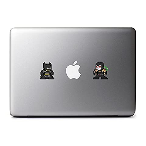 8-Bit Batman vs Bane Decal for MacBook, iPad Mini, iPhone 5S, Samsung Galaxy S3 S4, Nexus, HTC One, Nokia Lumia, (Samsung Galaxy S3 Mini Batman)