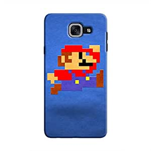 Cover It Up - Mario Pixelated Blue Galaxy J7 Prime Hard Case