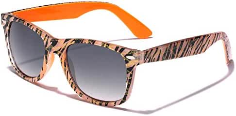 Retro Ladies Fashion Glitter Sunglasses - Zebra Frame Print