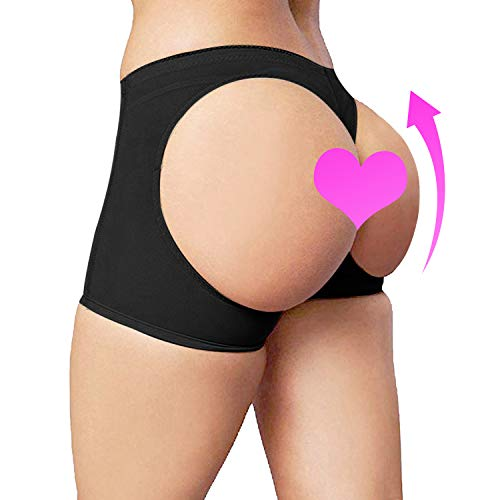 Sigerpama Womens Butt Lifter Panties Shapewear Boy Shorts Enhancer Shaper Panty (Black, XXX-Large)