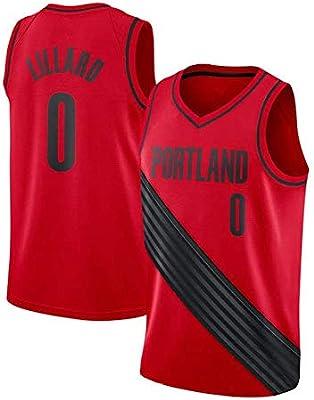 HANJIAJKL Jerseys del Baloncesto para Hombres,Portland Trail Blazers Damian Lillard #0 Camiseta,Unisex Uniforme de Baloncesto sin Mangas,Red b,L: Amazon.es: Deportes y aire libre