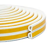interior window trim ideas Keeping Fun Indoor Weather Stripping,Self Adhesive Foam Window Seal Strip for Doors and Windows Soundproofing Weatherstrip Gap Blocker,7/20-Inch x 6/25-Inch x 8-Feet,White (2 Seals)