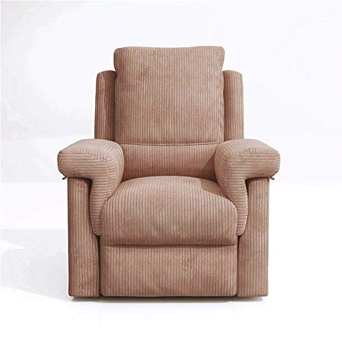 Louis Donné Recliner Chair Corduroy Single Sofa Modern Reclining Seat Home Theater Seating for Living Room