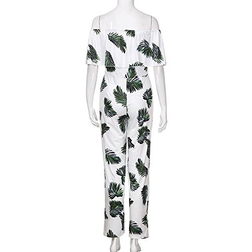 Fiori Short Party Summer Clothing alta Sleeves ampia vita donnaManadlian Long Pants Stampa Green Casual Dress Tuta da Tc1JlFK