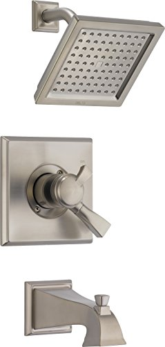 (Delta Faucet T17451-SP Dryden Monitor 17 Series Tub & Shower Trim, SpotShield Stainless,)