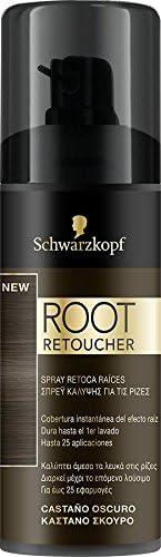 SCHWARZKOPF Root tinte castaño oscuro retoca raíces spray ...