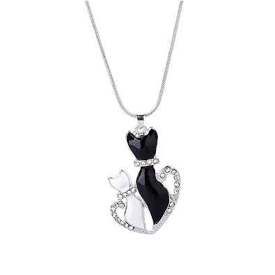 Amazon.com: LiLiMeng - Collar con colgante de gato blanco y ...