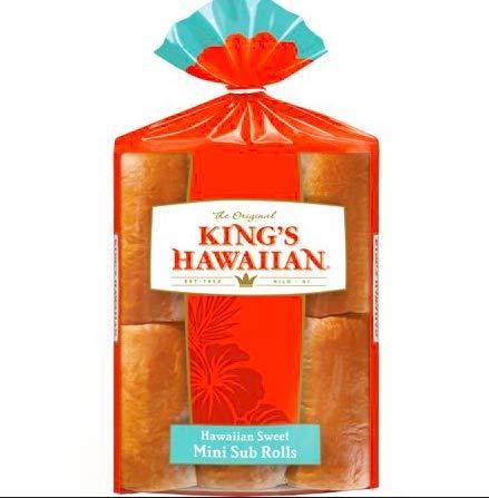 - King's Hawaiian Original Hawaiian Mini Sub Rolls, 6 count, 10.8 oz