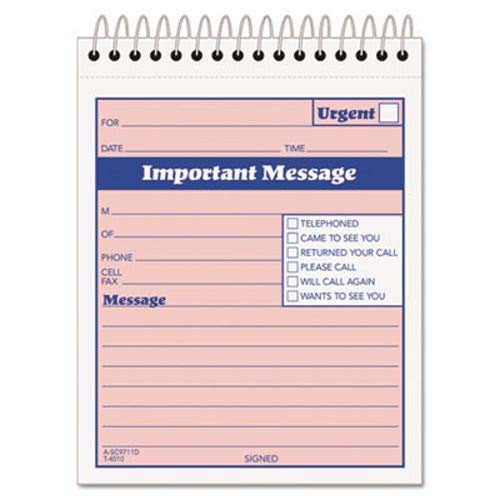 (Telephone Message Book with Fax/Mobile Section, Two-Part, 50 Forms (TOP4010))