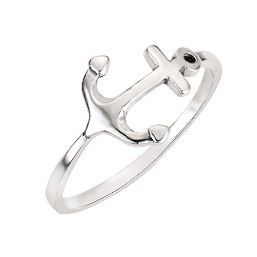 CloseoutWarehouse Sterling Silver Anchor Ring Size 9