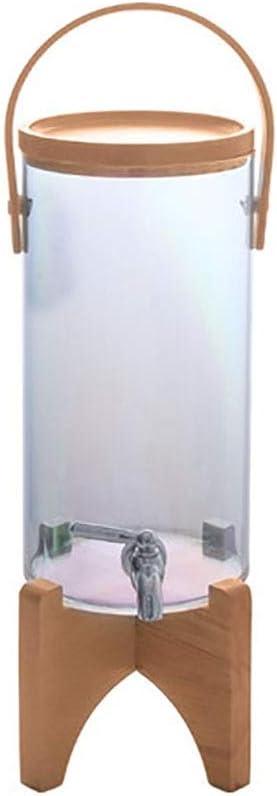 Gfdsase Sobremesa Torre de Cerveza Jugo De Vidrio Barril Base De Madera Dispensador Dispensador De Agua 2.8ltr Dispensador De La Cerveza Fácil De Limpiar Opción para los Amantes de la Cerveza