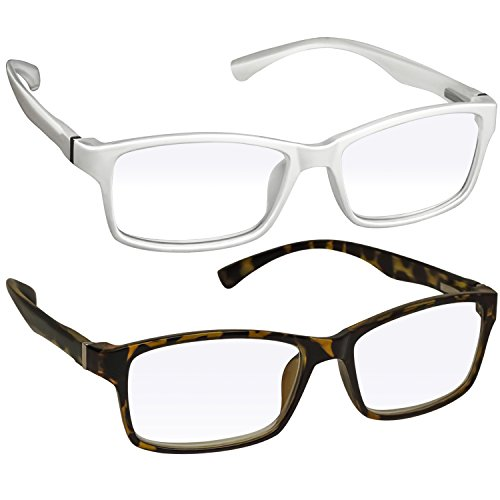 Computer Reading Glasses 0.00 _White Tortoise Protect Your Eyes Against Eye Strain, Fatigue and Dry Eyes from Digital Gear with Anti Blue Light, Anti UV, Anti Glare, and are Anti - To Glasses Computer Reduce Glare