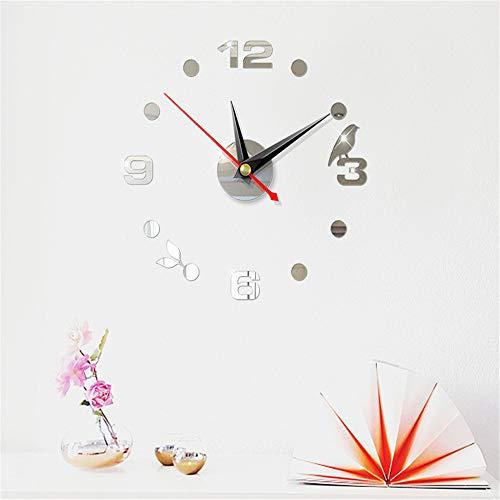Quartz Clocks Fashion Watches 3D Big Wall Clock with Wall Stickers & Photo Frame Creative Living Room Decor Modern Clocks -
