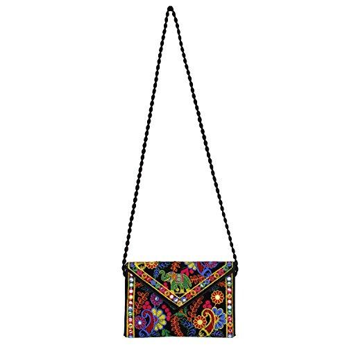 Potli Rajasthani handbags Vintage Tribal Black1 Clutch Bohemian Banjara Jaipur Indian Handmade aSSZxOtBq