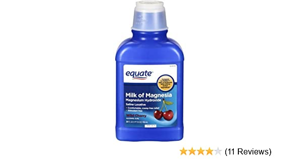 Amazon.com: Equate - Milk of Magnesia Saline Laxative, Wild Cherry, 26 fl oz: Health & Personal Care