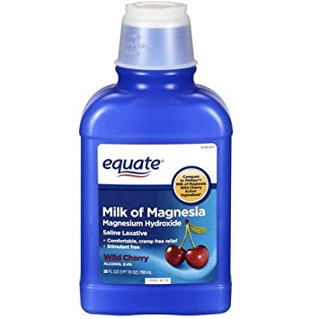 Equate - Milk of Magnesia Saline Laxative, Wild Cherry, 26 fl oz