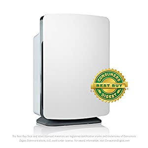 Alen BreatheSmart Customizable Air Purifier with HEPA-OdorCell Filter to Reduce Allergies, Smoke & Pet Odors (White, OdorCell, 1-Pack)
