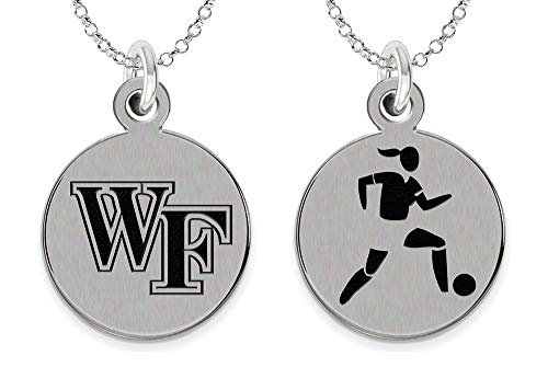 College Jewelry Wake Forest University Demon Deacons Women's Soccer Charm Necklace by College Jewelry