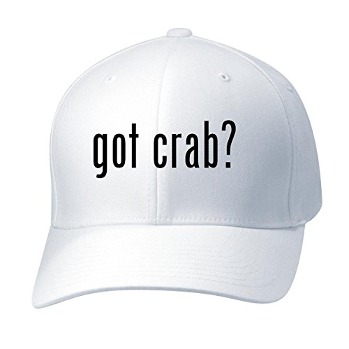 (BH Cool Designs got Crab? - Baseball Hat Cap Adult, White, Large/X-Large)