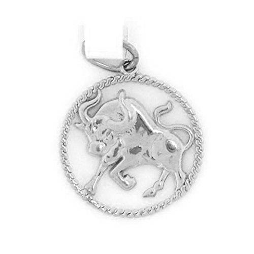 Jewelry Liquidation 14k Solid White Gold Taurus Zodiac Charm Pendant