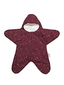 Baby Bites ORIGINAL - Saco estrella BURDEOS, estampado CONSTELACIONES - Modelo VERANO