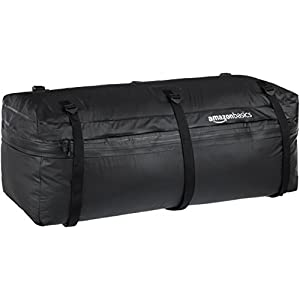 AmazonBasics Expandable Hitch Rack Cargo Carrier Bag, Black, 9.5 cu. ft. expandable to 11.5 cu. ft.