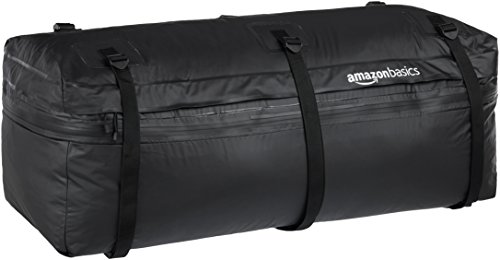 AmazonBasics Expandable Hitch Rack Cargo Carrier Bag, Black, 9.5 Cubic Feet, Expandable to 11.5...