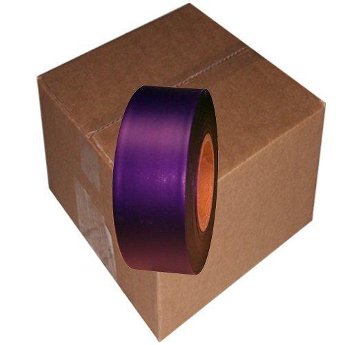 Flagging Tape 1-3/16'' Non-Adhesive Plastic Ribbon, Purple (Pack of 12)