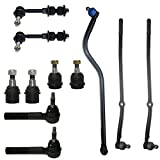 Front Upper & Lower Ball Joints Inner Outer Tie Rod Drag Link & Sway Bars 11pc Kit- Left & Right Side for - [2000-2002 Dodge Ram 2500 DANA 60 4x4] - 2000-2002 Dodge Ram 3500 4WD