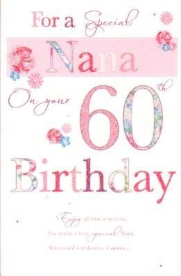 Special nana 60th birthday card amazon kitchen home special nana 60th birthday card bookmarktalkfo Choice Image