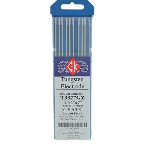 "CK T3327GZ .8% Zirconiated Tungsten Electrode 3/32"" X 7"" ..."